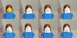 Lego men showing emotions