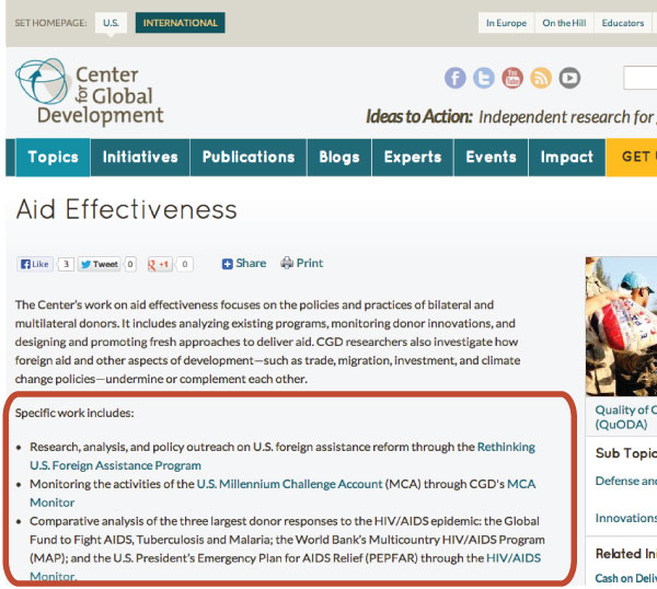 On this page, CGD highlights background research