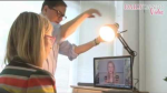 Photo showing proper lighting for online meetings using only a normal desk lamp